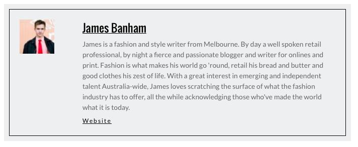 MelbGirl James Banham bio