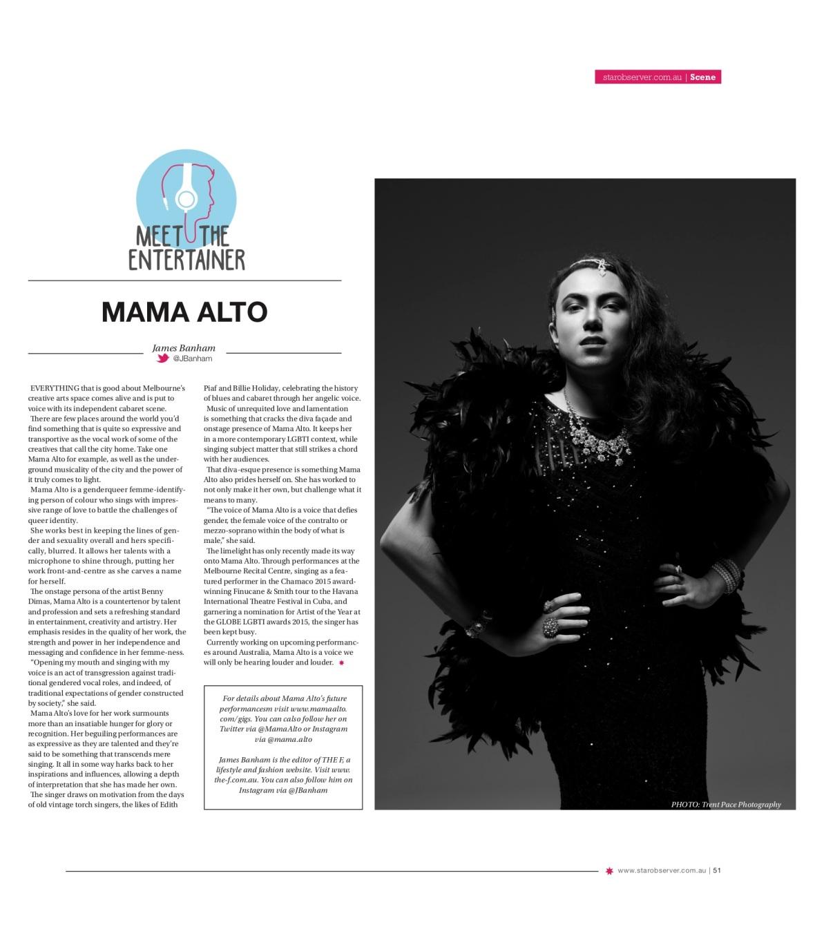 Mama Alto Star Observer Magazine _ April 2016
