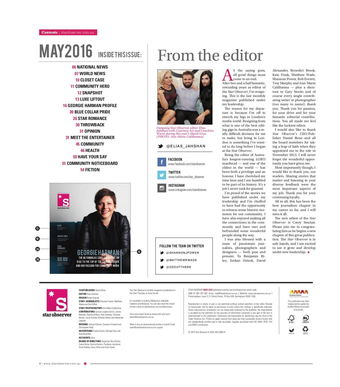 Karen From Finance Star Observer Magazine _ May 2016 index