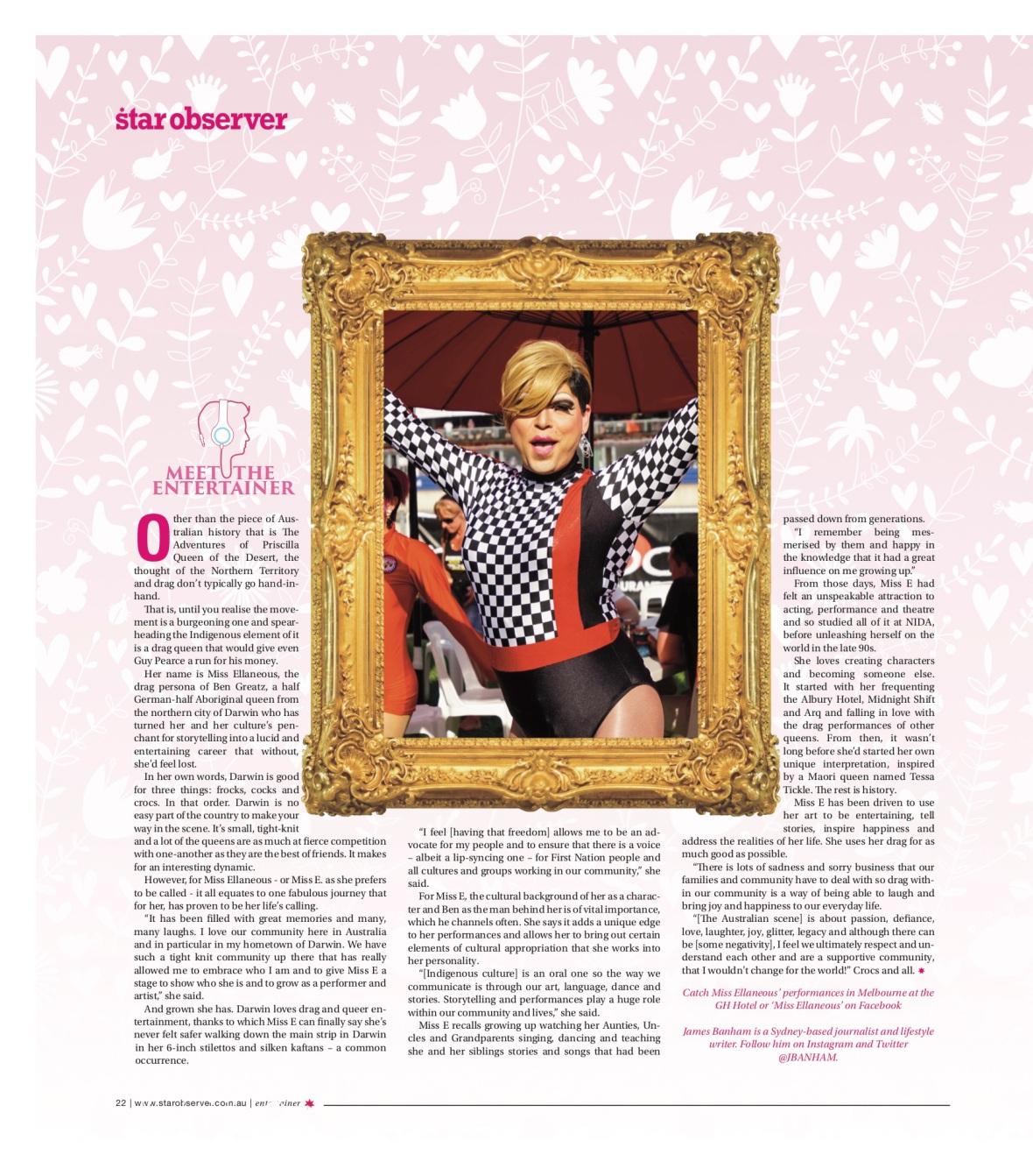 Miss Elaneous Star Observer Magazine _ August 2016