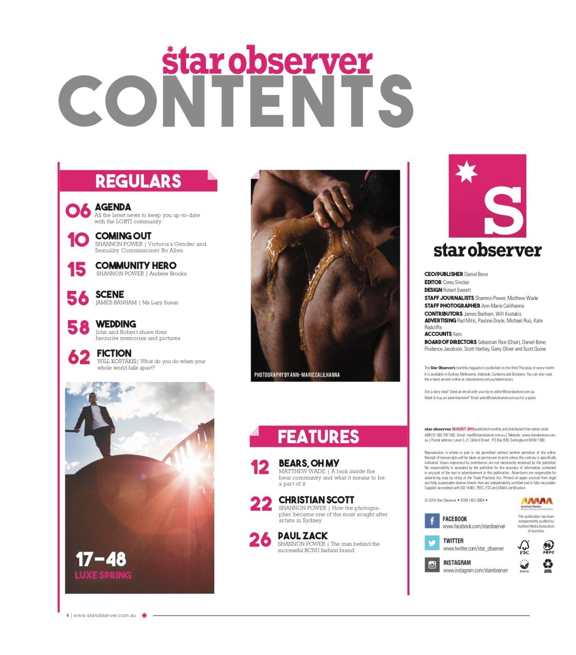 Lazy Susan Star Observer Magazine _ September 2016 index