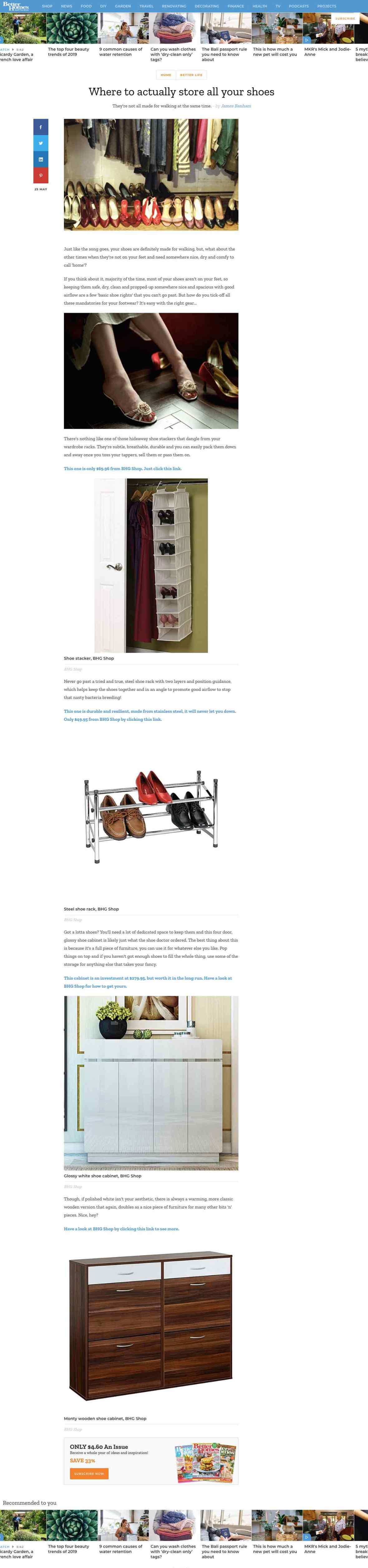 Better Homes Gardens - Where to actually store all your shoes - Better Homes and Gardens