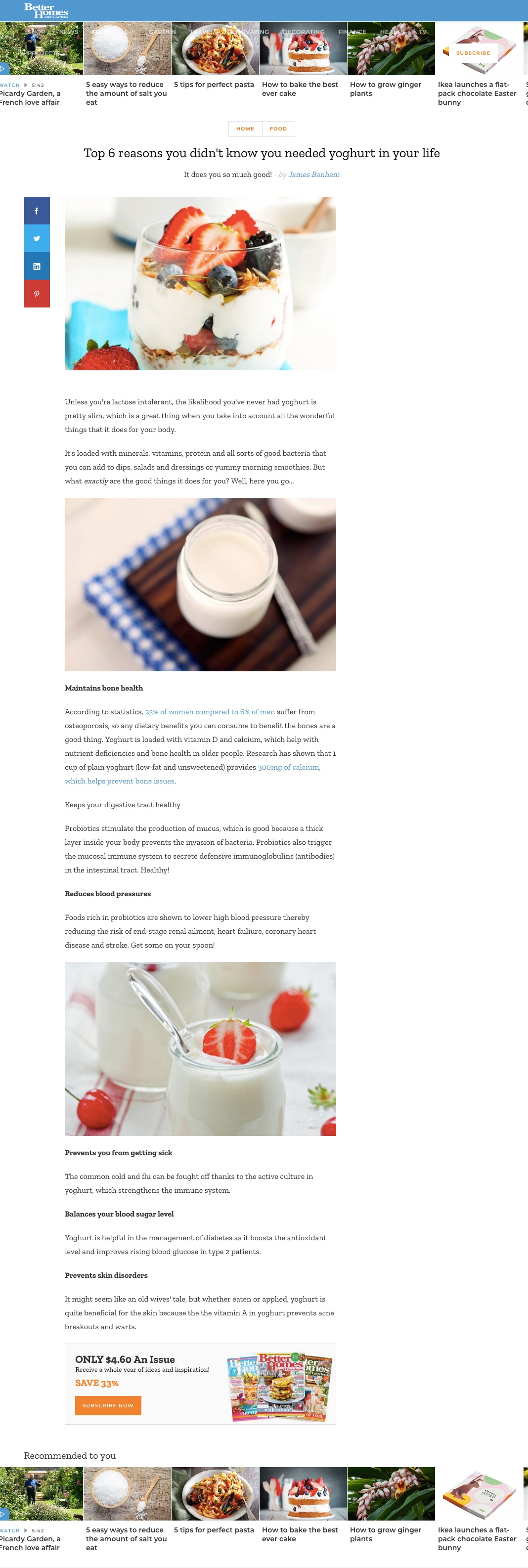 Better Homes Gardens - Top 6 reasons you didn't know you needed yoghurt in your life
