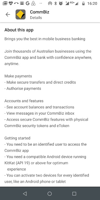 CommBiz Google Play screenshot 1